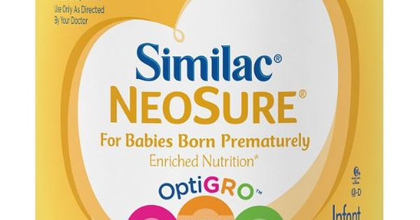 Similac Neosure Infant Formula With Iron Powder 13 1 Ounces Pack Of 6 Pack Of Six 13 1 Ounce 78 6 Total Ounces Provides Mor Baby Formula Similac Neosure