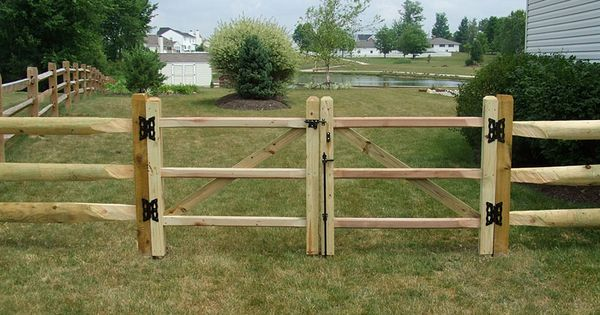 Small Wood Split Rail Fence Gate Projects To Try