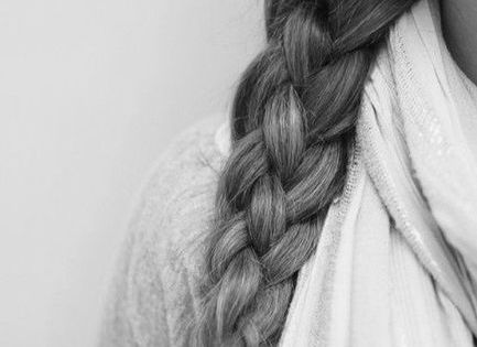 #sailorsknot braid - four strand braid. 1) divide hair into 4 sections