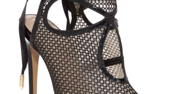 *.* Sexy Thing Patent Leather and Mesh Ankle Boots by Aquazzura Now