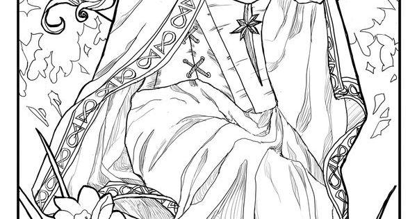 Lady of December Line Art by =AngelaSasser on deviantART