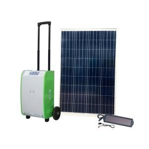 Nature Power 1 800 Watt Indoor Outdoor Portable Off Grid Solar Generator Kit With 100 Watt Solar Panel And Luggage Style Carrier 40415 The Home Depot Solar Panels Solar Powered Generator Solar Energy Panels