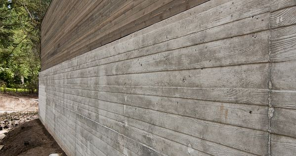 Board Formed Concrete Wall Amp Wood Above In Process