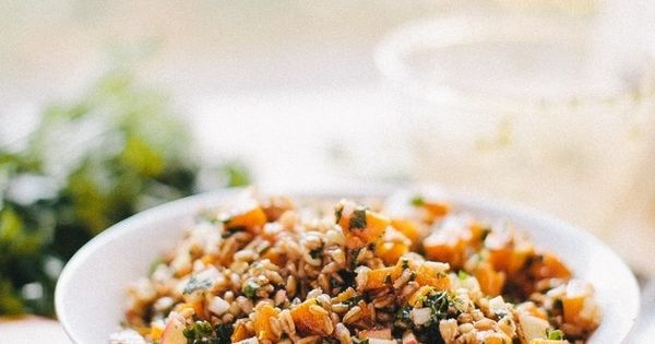 herb salad honey and harissa farro salad honey and harissa farro salad ...