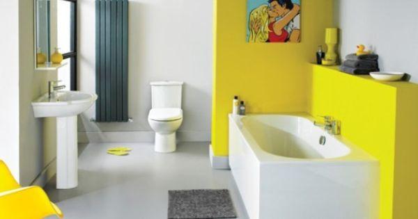 Trending In Bathroom Design Yellow Bathrooms Yellow Bathrooms Bathroom Design Small Bathroom Colors