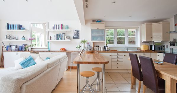 Open plan kitchen diner and living room home pinterest open plan kitchen diner open plan for Open plan kitchen diner living room