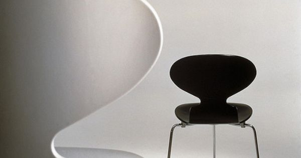 silla ant chairs in black white 1952 chair stuhl. Black Bedroom Furniture Sets. Home Design Ideas