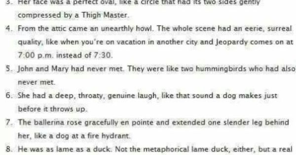 funny analogies essays