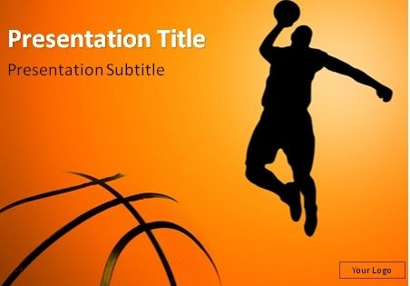 Nice Basketball picture on PowerPoint Template – Sport Powerpoint Template