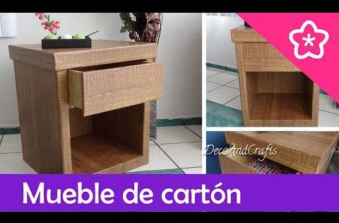 Hacer un mueble de cart n con apariencia de madera diy - Muebles en carton ...