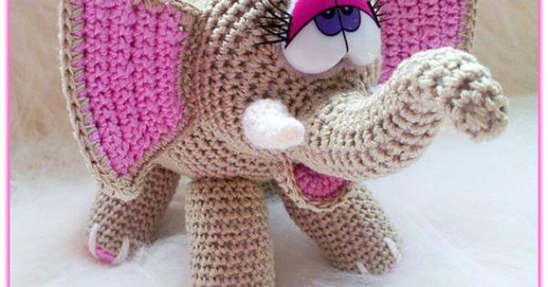 Amigurumi Little Bigfoot Panda : Crochet ELEPHANT toy pattern stuffed animal amigurumi by ...