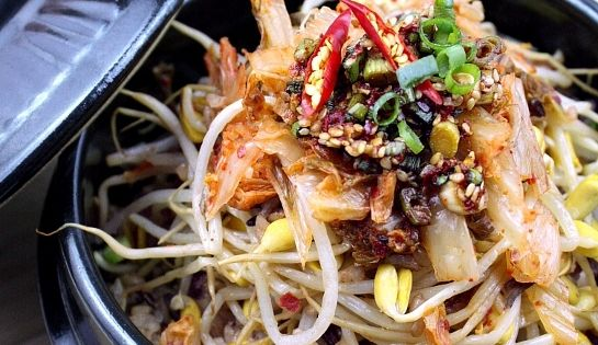 Kongnamul Bap (Soybean Sprout Rice Bowl) by cHowDivine.com | korean ...