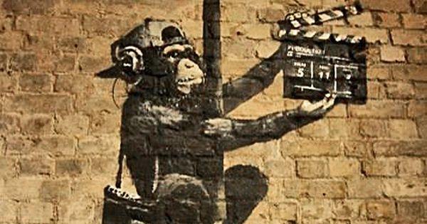 Banksy Canvas Monkey Director Street Art Grafitti 16 X 20 Inch Premium Print Window