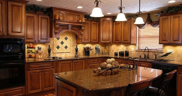 amusing cream kitchen cabinets | paint colors for kitchens with golden oak cabinets | Home ...