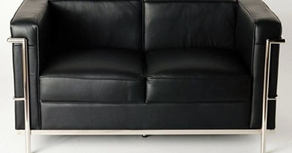 lc2 le corbusier 2 places noir bauhaus pinterest. Black Bedroom Furniture Sets. Home Design Ideas