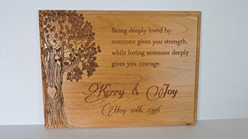 5th Anniversary Wood Plaque With Poem Being Deeply Loved Personalized Names And Established Date To V Wooden Anniversary Gift Anniversary Gifts Anniversary