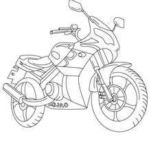 Sport Motorcycle Color In Coloring Page Transportation