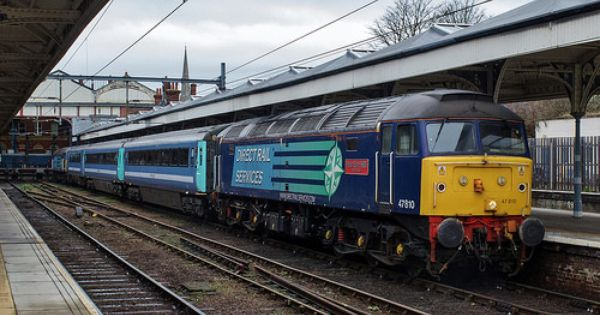 Direct Rail Services Class 47 No 47810 Stands At Norwich Station