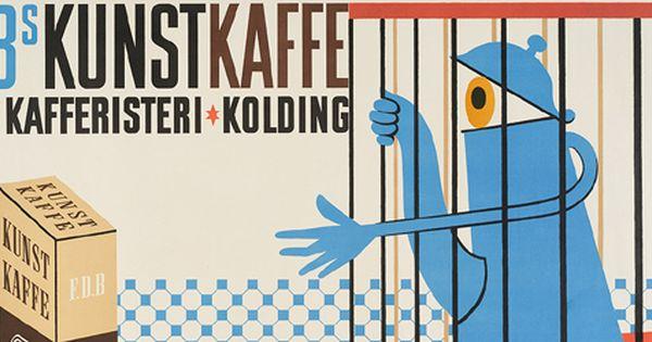 Zieler Kunstkaffe 1940 Plakater Danmark Illustration