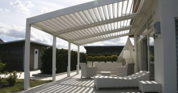 Aluminium Bioclimatic Pergola With Mobile Slats