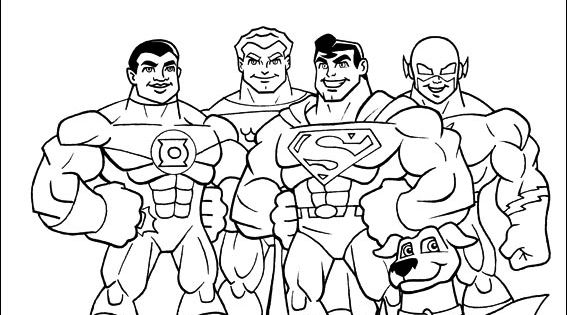 Super Friends coloring picture Coloring for kid Pinterest