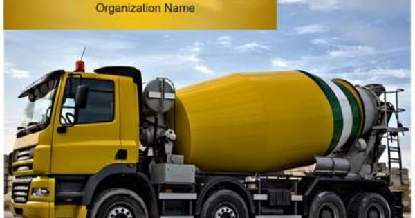 Concrete Truck Powerpoint Template Is One Of The Best Powerpoint