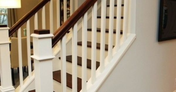 garage landing and staircase i like the idea of opening up the bottom of the stairs for the