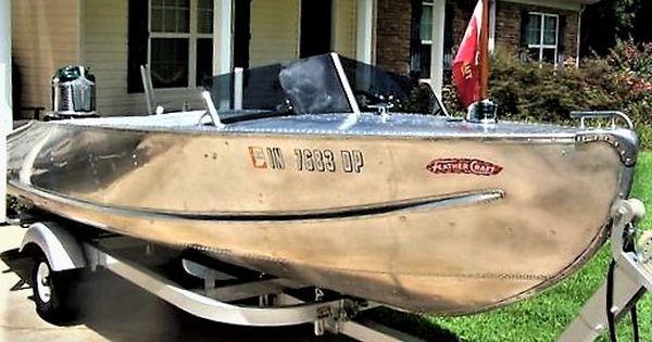 Vintage 50s Ski Boat Classic Wooden Boats Aluminum Boat Cool Boats