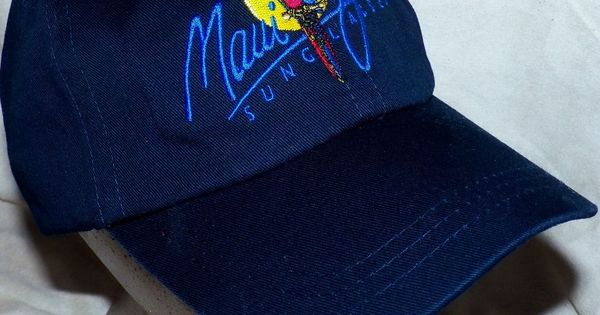 Maui Jim Sunglasses Parrot Logo Navy Baseball Hat Cap
