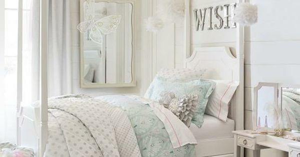 Chambre adulte originale en blanc et tons pastel ambiance romantique chambr - Chambre originale adulte ...