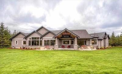 Plan 23609jd One Story Mountain Ranch Home With Options Ranch House Plans Ranch House House Plans One Story