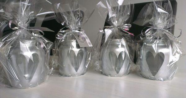 Glazen potjes met spuitverf glazen potjes pinterest met for Verwijderbaar glas
