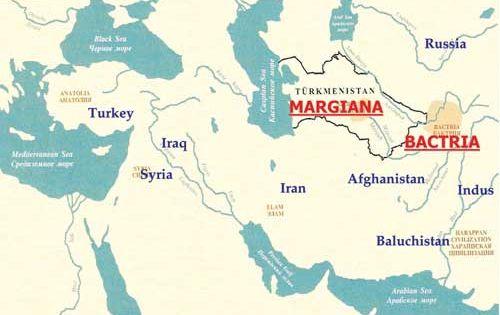 Fig 2 Region of Bactria Margiana Archaeological plex