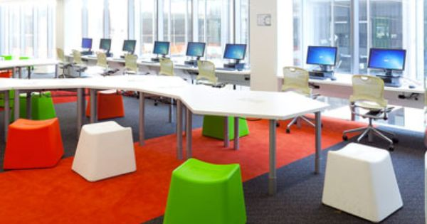 Modern Classroom Structure : Interesting tables and chairs for a classroom library or