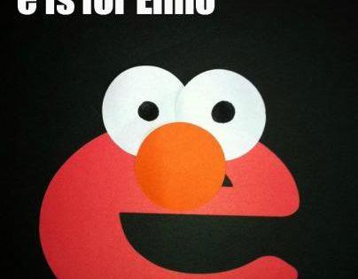Alphabet crafts e is for elmo alphabet crafts for Elmo arts and crafts