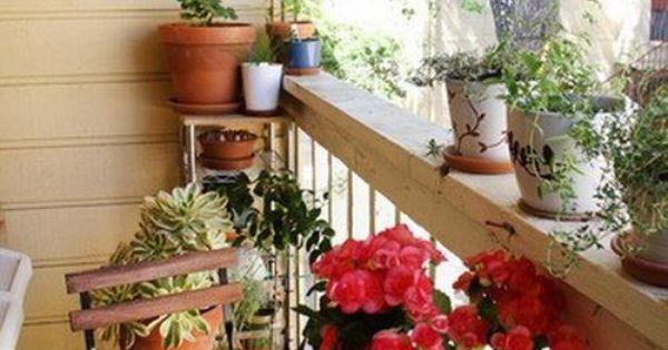 Peque os balcones con encanto terrazas y balcones - Balcones pequenos con encanto ...