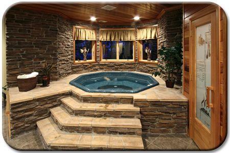 Man If I Had An Indoor Hot Tub I Would Sleep In It Every Night D Indoor Hot Tub Indoor Jacuzzi Hot Tub Room