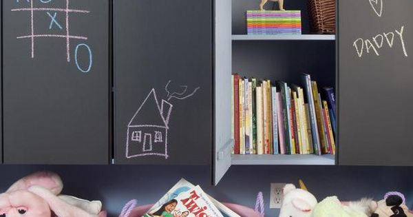 Chalk board storage - Contemporary Kids' Rooms from David Hertz : Designers'