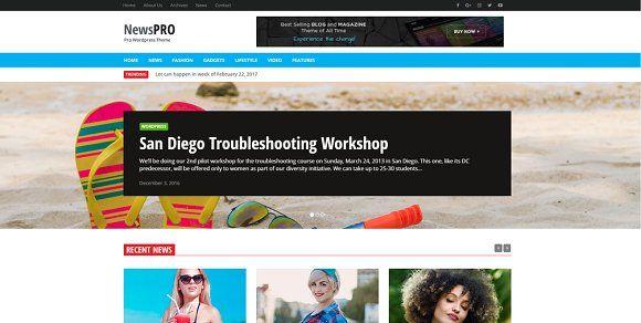 News Pro Plus Blog Themes Wordpress Wordpress Theme Responsive Online Magazine Website