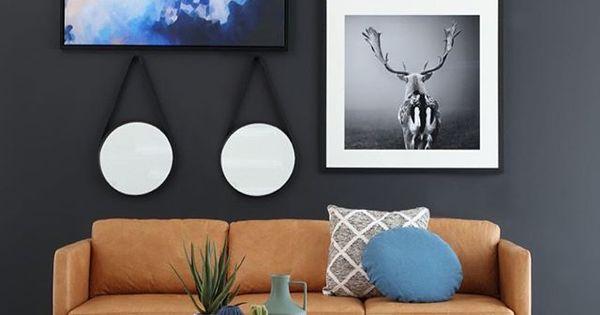 Oz Design Furniture Artworks Tan Leather Lounge Rug