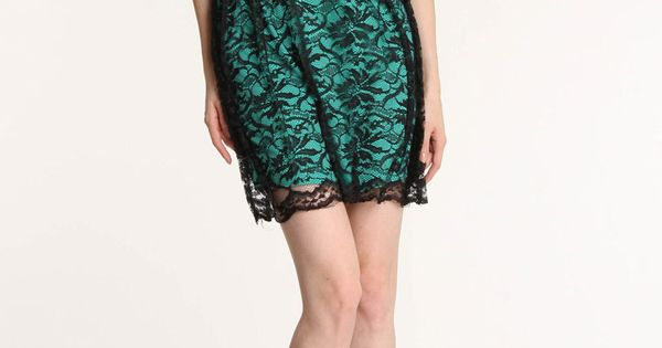City Triangles Elle Dress In Black Green - Beyond the Rack