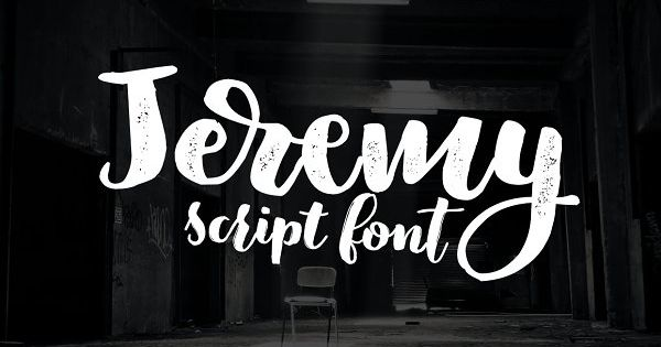 Jeremy is a handwritten, brush script with ligatures and contextual alternates to help with flow and readability.