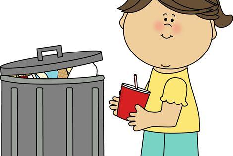 Girl Picking Up Trash Clip Art - Girl Picking Up Trash ...