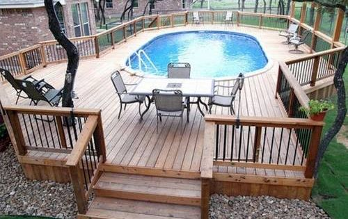 Above+Ground+Pool+Deck+Framing | ... above ground pools outdoor pool above ground deck outdoor