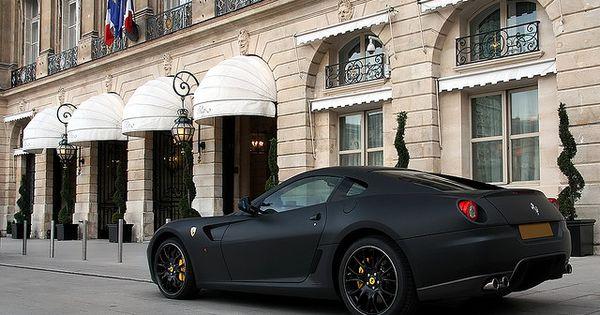 velvety matte black Ferrari 599 / alexandre besançcon. I love the matte