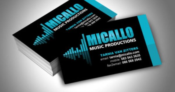 Business card design for Micallo Music Productions, an artist ...