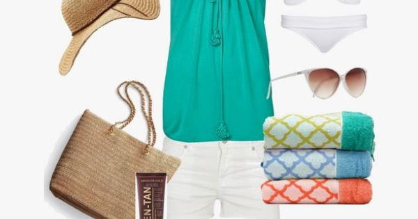 Going to the beach, created by jenniemitchell on polyvore. fashion style Dorothy