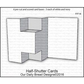 Fun Fancy Folds Trifold Shutter Cards Tri Fold Cards Card Making Patterns