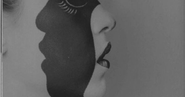 red black portrait Maurizio Cattelan