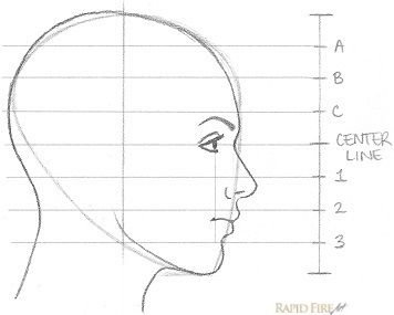 11 Steps On How To Draw A Female Face Side View Side View Of Face Face Side View Drawing Side Face Drawing